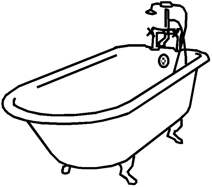 Baignoire dessin for Dessin de salle de bain gratuit