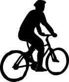 Sur son petit vélo