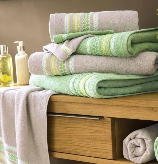 Draps de bain éponge Verveine et Vétiver