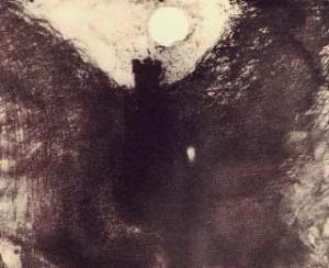 Ruines au clair de lune, dessin de Victor Hugo
