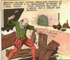 Bernard Palissy brûlant meubles et plancher