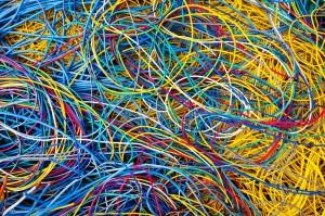 Enchevêtrement de câbles