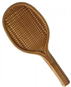 Raquette tennis en chocolat au lait