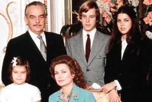 Famille princière monégasque (années 70)