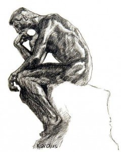 ''Le penseur'' de Rodin (par Karolus)