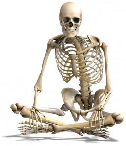 Squelette assis