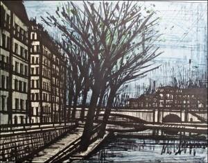 En bas sur les quais (quai froid de la Seine par Bernard Buffet)