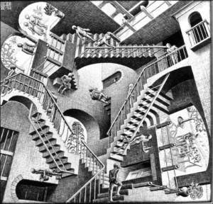 Escaliers et couloirs