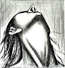 Bernard Buffet - L'enfer de Dante - Tête renversée (1977)