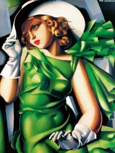 La femme en vert -  Tamara de Lempicka