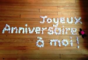 Joyeux anniversaire à moi !