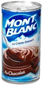 Crème Mont Blanc dessert chocolat