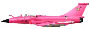 Avion Rafale rose