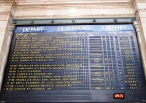 Panneau départ trains