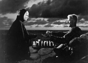 Partie d'échecs avec La Mort (''Le 7ème sceau'', 1957)