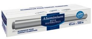 Aluminium - boîte distributrice avec lame