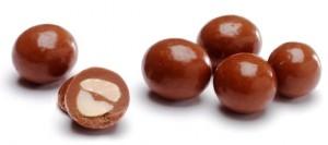 Cacahuètes enrobées de chocolat