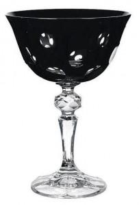 Coupe à champagne Verone noir