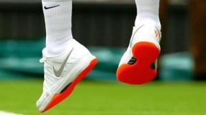 Le pied léger et...la semelle fluo ! (R.F. - Wimbledon 2013)