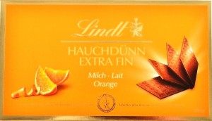 Lindt, tablettes ultra-fines lait orange