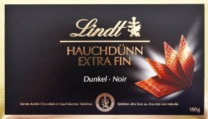 Lindt, tablettes ultra-fines noir