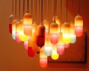 Suspension gélules lumineuses