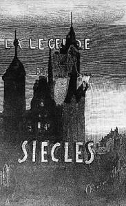 Frontispice de ''La  Légende des siècles'' (1859) - gravure d'après un dessin de Victor Hugo