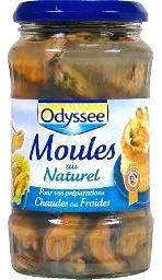 Moules au naturel (bocal)