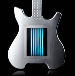 Guitare en cheminée