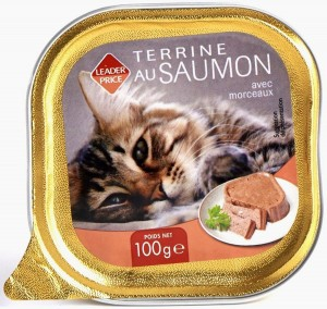 Terrine au saumon (pour chat)