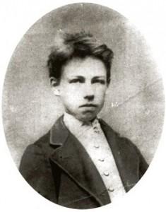 Arthur Rimbaud à 17 ans (photographié par Carjat, en 1871)