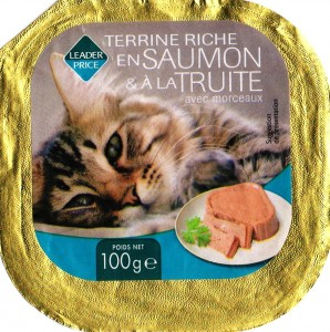 Terrine riche en saumon & à la truite (pour chat)