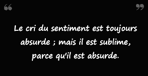 Le cri du sentiment...
