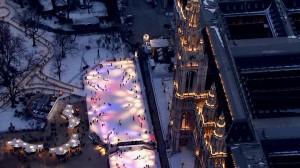 Patin à glace devant l'Hôtel de Ville