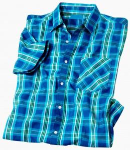 Chemise à carreaux bleus (look Pacific !)
