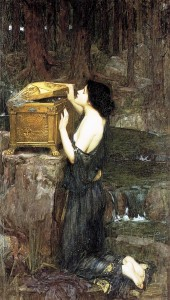 Pandore (par John William Waterhouse, 1896)