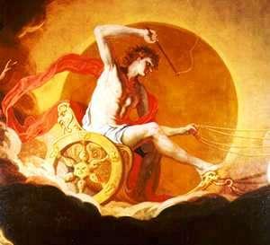 Hélios sur son char