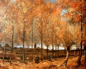 Lane avec peupliers (Van Gogh, 1885)
