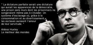 Petit rappel d'Aldous Huxley