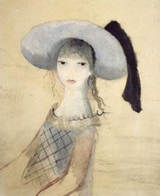 Fillette au chapeau bleu et noir - Marie Laurencin (1913 -14)