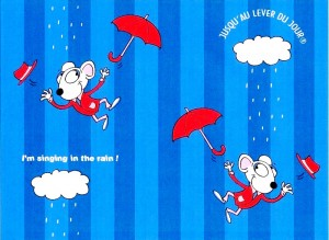 Motif ''Singing in the rain''