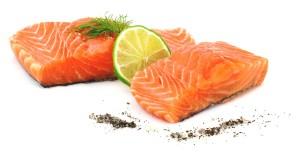 Pavés de saumon agrémentés