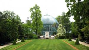 La grande serre (palmarium) du Jardin des serres d'Auteuil