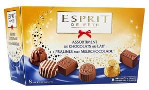 Chocolats assortiment au lait Esprit de Fête