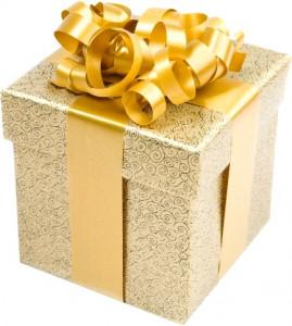 Paquet cadeau avec frisottis