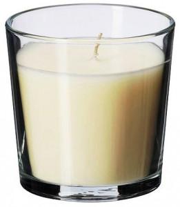 Bougie verre vanille