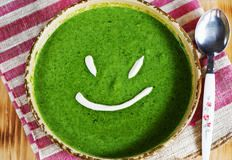 http://www.dreamstime.com/royalty-free-stock-photos-spinach-cream-soup-smile-image25918628