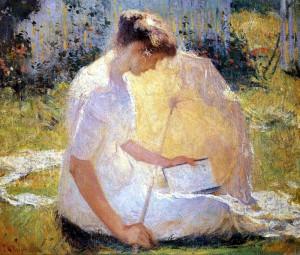 ''La Liseuse'' (Franck Weston Benson)