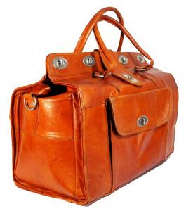 Bagage en cuir vintage