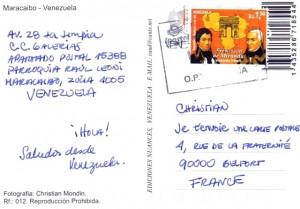 Carte postale Venezuela